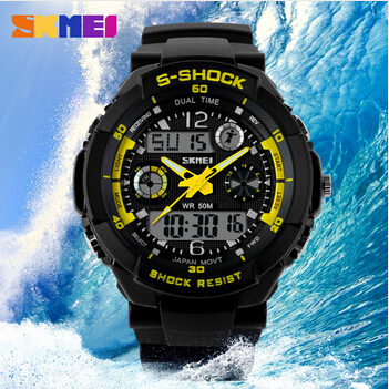 Men Sports Watches Casual Dress Digital watch 2 Time Zone Quartz Electronic LED dive Military wristwatches Relogio - China Boutique House store
