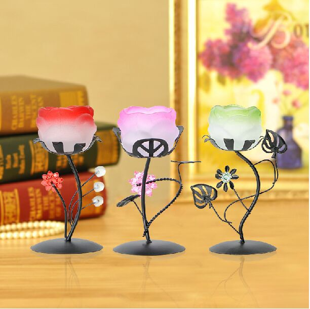 Creative Wedding Decoration Iron Metal Candle Hoder Crafts Ornaments Coffe Bar Home Valentines Gifts - Forviews Industrial Co. Ltd store