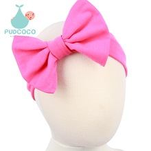 9 Colors Baby Grils Bow Knot Headband Kids Infant Turban Knotted Tie Hair Accessories Children Headwear H199