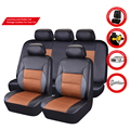 Free Shipping Luxury Leather car Seat Cover universal Black Cayenne Car Seat Covers Whole Surrounded Car