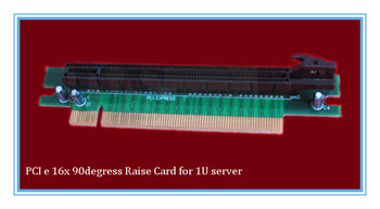 High-speed 16x 90degrees PCIe riser card for 1U 2U Server/IPC/HTPC