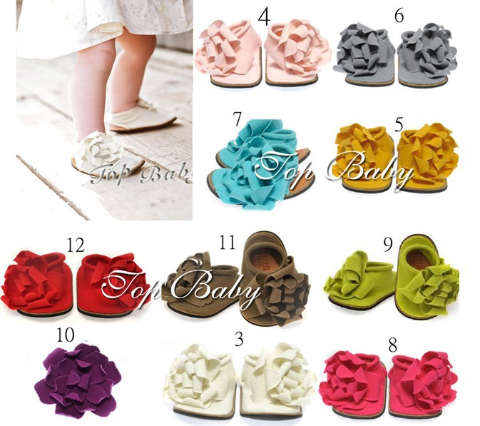 Free Shipping TOP BABY Toddler shoes Barefoot Sandals Foot Flower Ties girls Toddler children gifts<br><br>Aliexpress