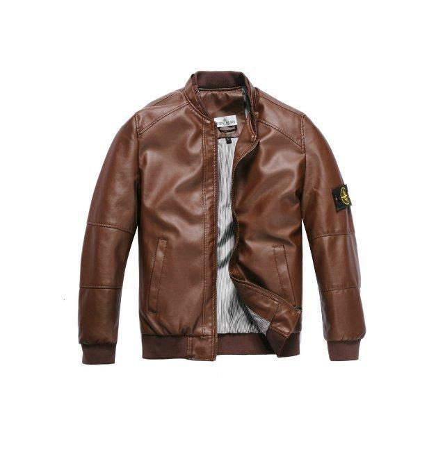 Free shipping 2014 ston* e new men's casual leather Men's leather jackets Bund, Japan and South Korea wind jacket coat(China (Mainland))