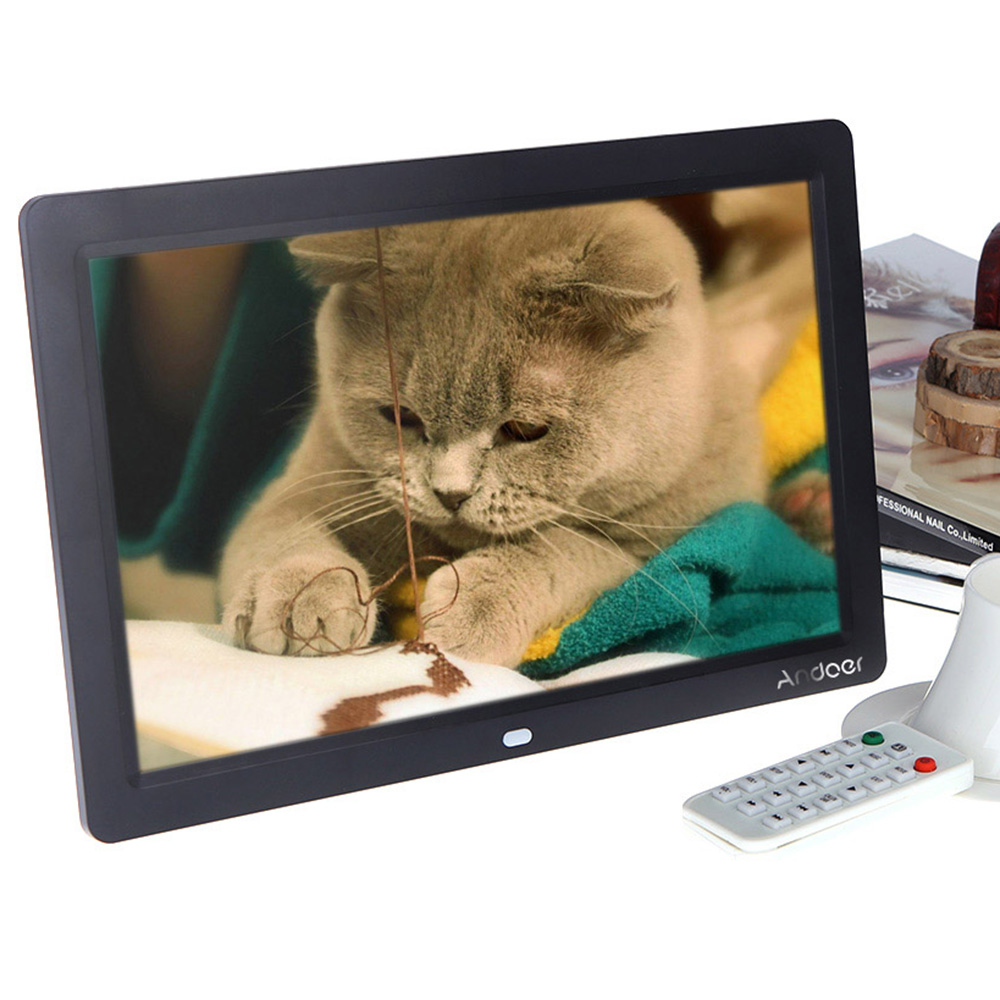DE US STOCK Andoer Electronic 12'' Full-view Digital Photo Frame HD TFT-LCD 1280 * 800 MP3 MP4 Movie Player with Remote Desktop(China (Mainland))