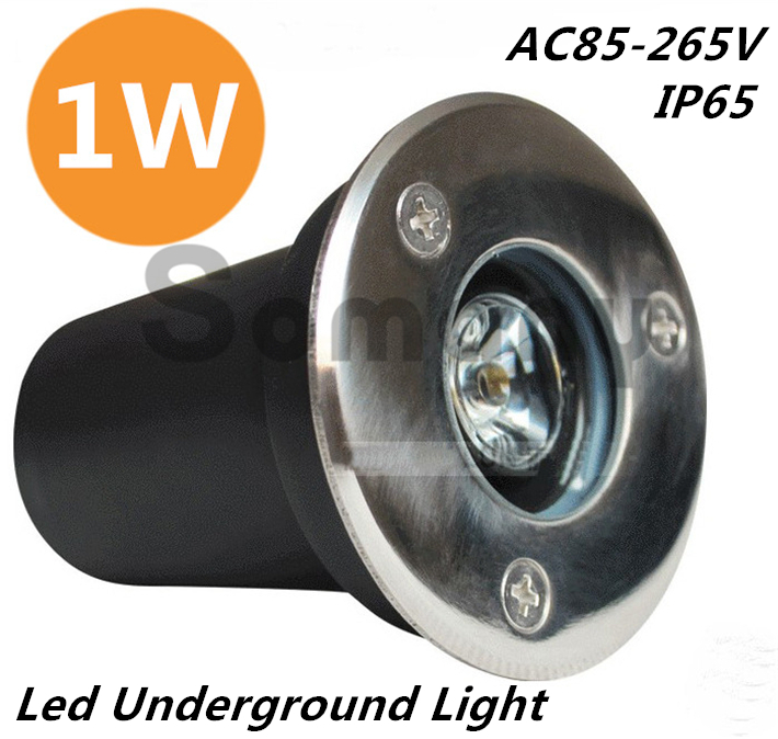2PCS/Lot Wholesale! Led Underground Light Led Stage Waterproof IP65 Stainless Steel Seven Colors Changing Buried Lighting 1W Hot(China (Mainland))