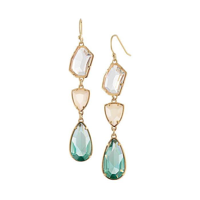 European Style Rhinestone crystal fashion Zinc Alloy Water drop Gems Women Dangle Piercing Drop Earrings - Bellast Fashion Jewelry Shop store