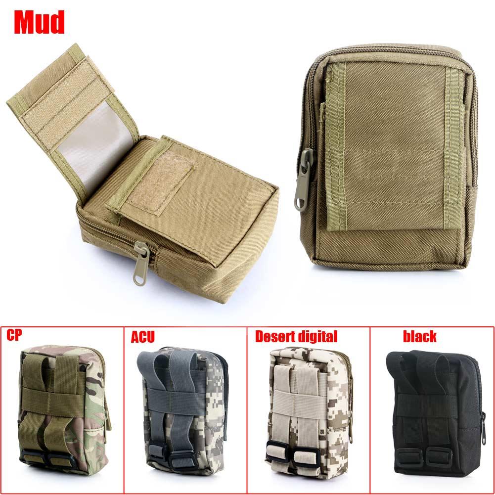 High Outdoor Waterproof Military Tactical Camping Travel Hanging Waist Bag Mini Pouch black/mud/CP/ACU/Desert Digital