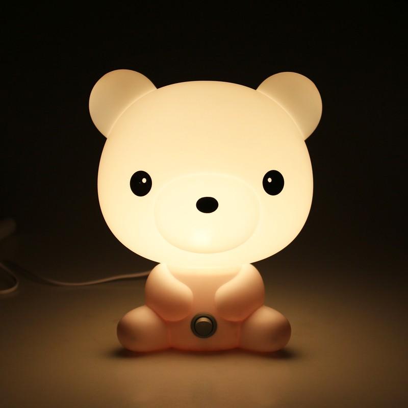 Novelty 220V Cartoon Animal Sharp Baby Lamp Sleep Night Bed Light Bulb for Kids(China (Mainland))