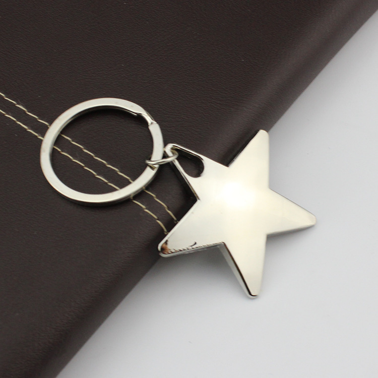 FREE SHIPPING BY DHL 200pcs/lot 2015 New Zinc Alloy Metal Star Shaped Keychains Novelty Customised Star Keyrings Gifts(China (Mainland))