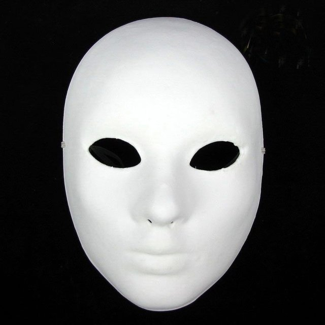 Hand Painting DIY Plain White Masks Women Men Thicken Paper Pulp Full Face Mask for Christmas Wedding Birthday Decorate 10pcs