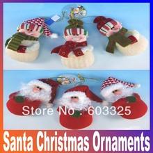 Latest Santa Christmas ornaments christmas items Christmas pendant gifts free shipping(China (Mainland))