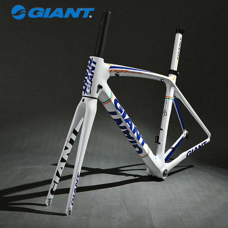 GIANT High Quality TCR Composite Carbon Frame Set 700C Road carretera Bike Frame Size S 465mm Blue White(China (Mainland))