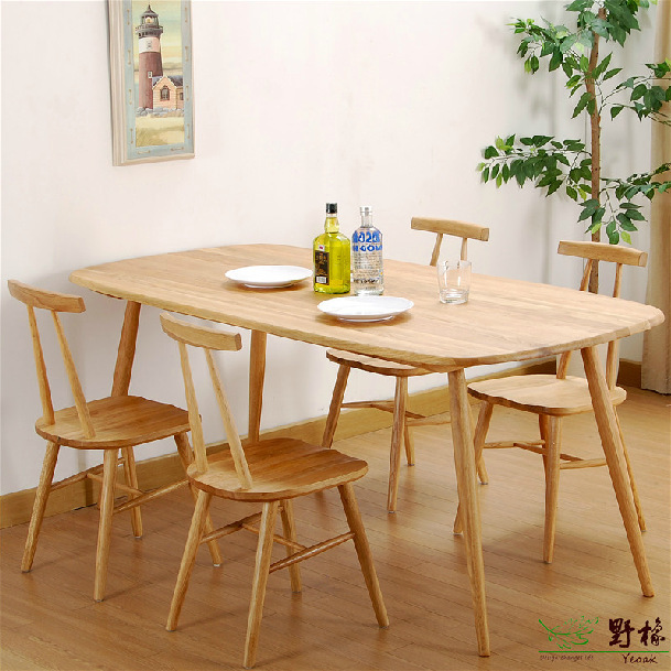 Dining Table White Oak Solid Wood Dining Table In Outdoor Tables