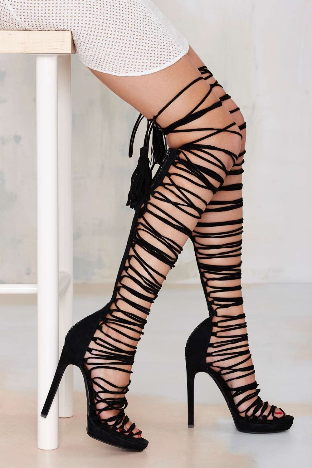 Gladiator High Heels Knee High