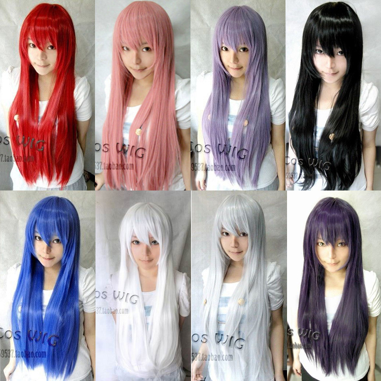 100Cm 8Colors Hight Quality Heat Resistant Harajuku Cosplay Wig Young Sailor moon Long Straight Sexy Synthetic Wig Pad For Hair(China (Mainland))