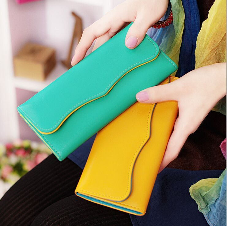 2015 new fashion Korean style women's cute candy color long design wallet ladies' hasp purse female - Ulike Style store