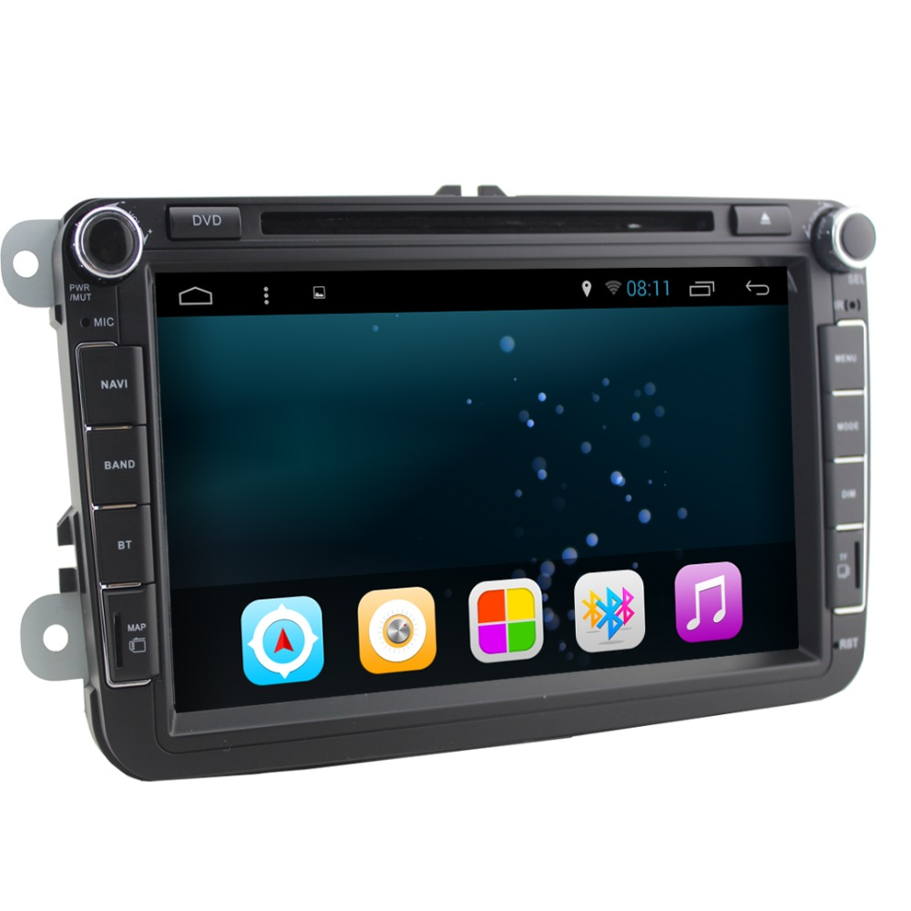 product Quad Core 1024*600 Android 4.4 For Volkswagen VW 2din Car DVD GPS Navigation BT Radio Stereo Video Audio Player