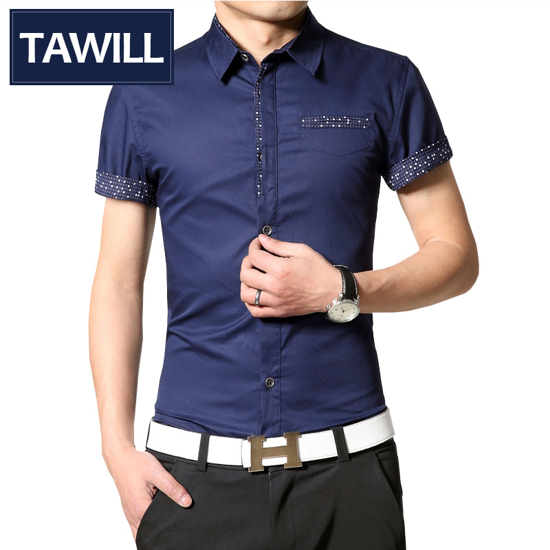 TAWILL Slim Fit Camisas Hombre 2015 homme Masculinas SH15571 tawill slim fit camisas hombre 2015 homme masculinas sh15572