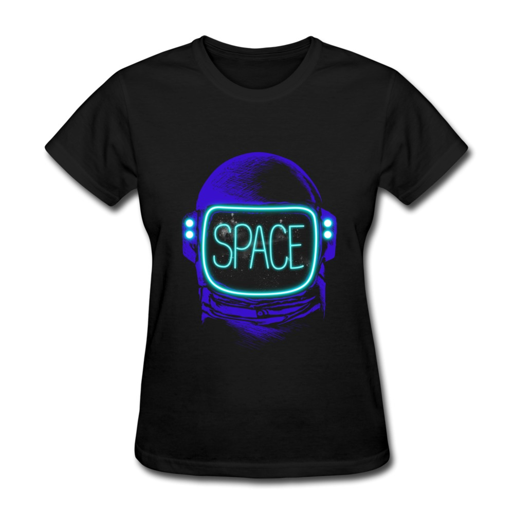 Womens t shirt casual space neon customize women t shirts for Bulk neon t shirts