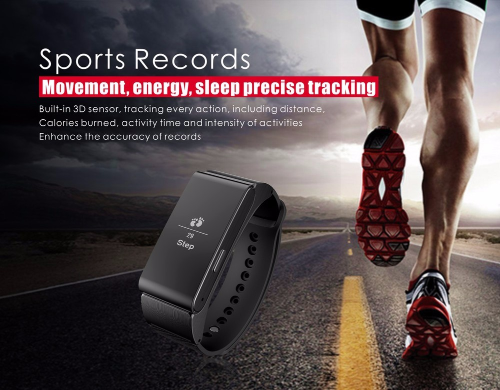 2in1 Sport iBand M8 Smart Talk Band Bracelet Pedometer Step Counter Fitness Tracker with Detachable Bluetooth Earphone Headset