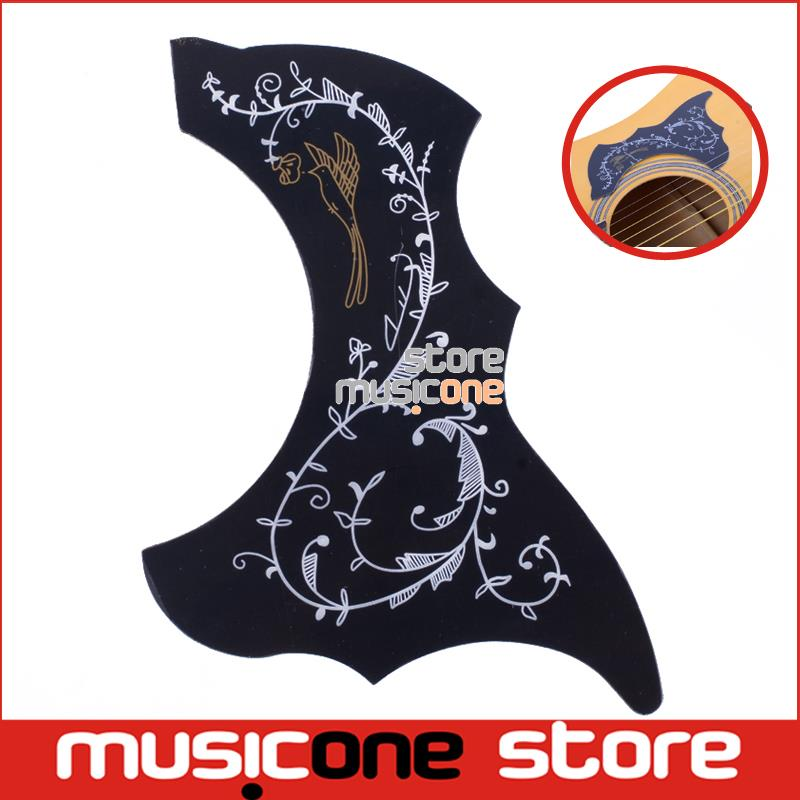 "Alice Acoustic Guitar Pickguard A025M R54mm Black Color Vine Pattern For 36"" 37"" 38"" 39"" Guitarra Small Size Pick Guard(China (Mainland))"