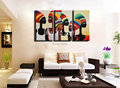 Hand painted Modern 3 panel canvas wall art Sexy nude art picture women african art painting