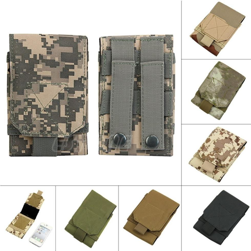 Small#New Army Camo Bag Fr Mobile Phone Hook Loop Belt Pouch Sleeve Holster Cover Case(China (Mainland))