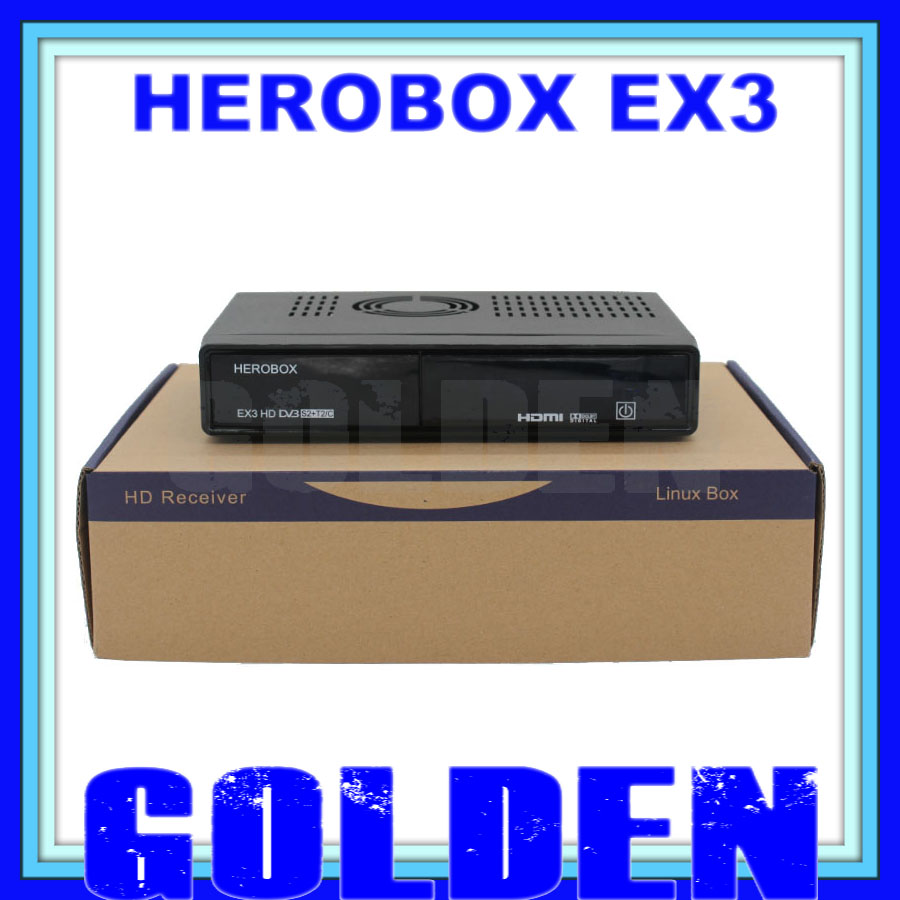2016 newest herobox ex3 HD dvb-s2 t2/c tuner hero box ex3 HD satellite decoder BCM7358 752MHZ MIPS Processor(China (Mainland))