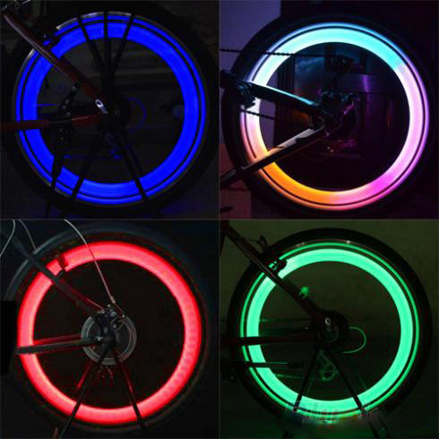 New fashion Safety Bright bicycle light Cycling Car Wheel Tire Tyre LED Spoke Light Lamp for bicycle Bike bicycle accessories(China (Mainland))