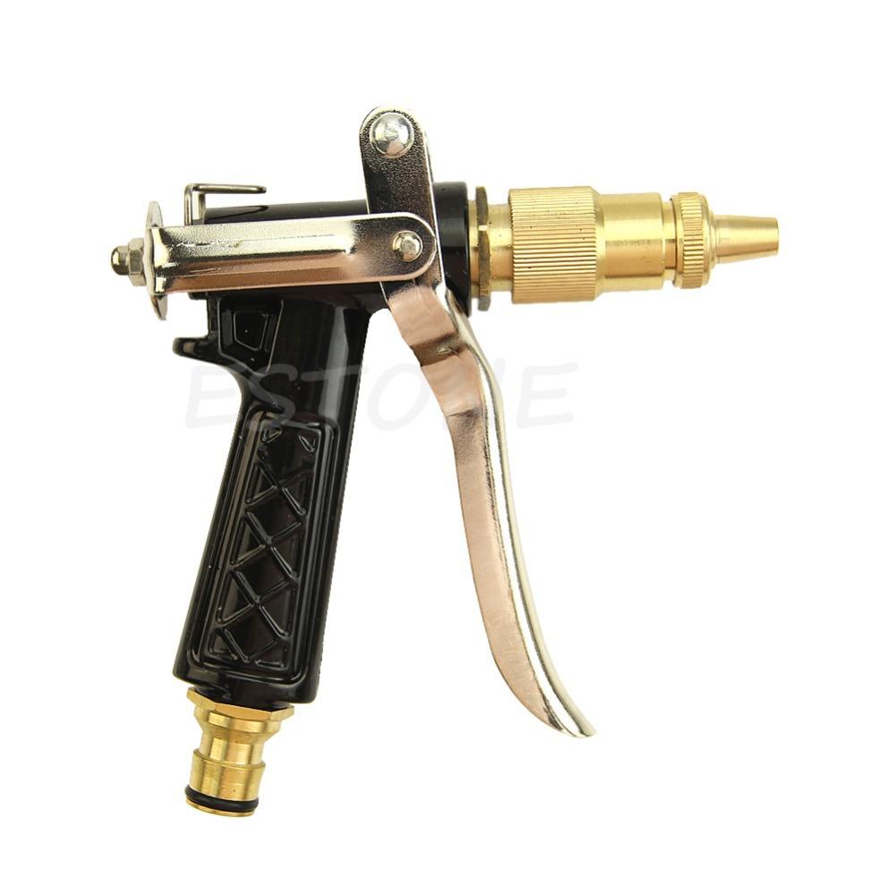 Brass Metal Hose Nozzle Water Gun Sprayer High Pressure Garden Auto