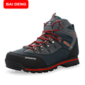 BAIDENG 2017 High Quality Man hiking boots Brand Flat Heel Man Shoes Autumn Winter Ankle Boots