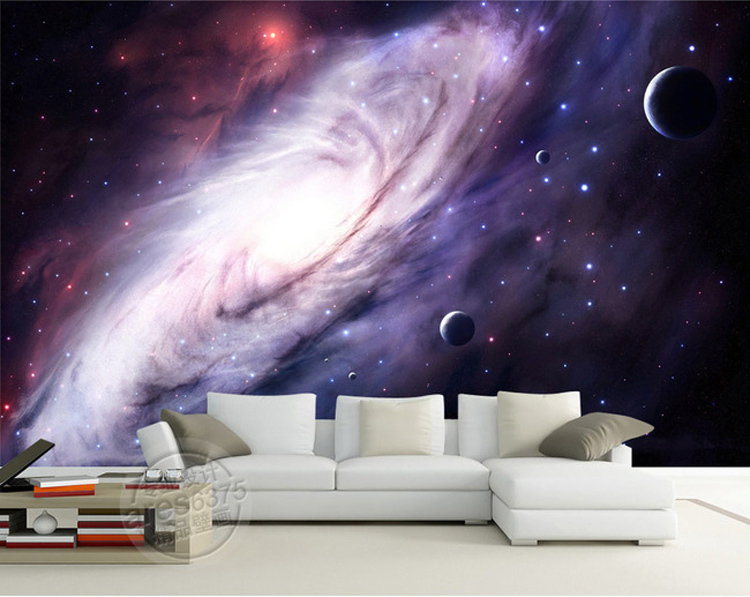 3d purple galaxy wallpaper for bedroom charming wall mural for Galaxy wallpaper for rooms