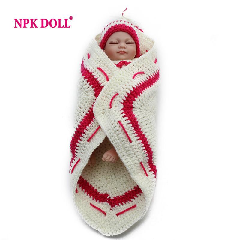 Soft Full Silicone Baby Reborn Girl Sleepy Lifelike Vinyl Mini Child Love Dolls Little Mommy Baby Toy Christmas Gift(China (Mainland))