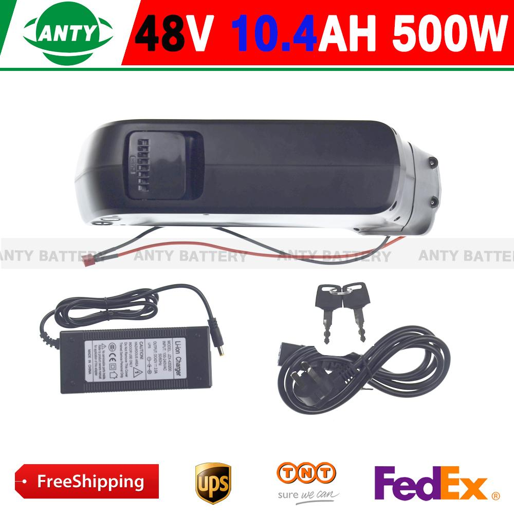10pcs/lot Ebike Battery 48v Battery 10.4ah 500w Lithium Battery (samsung 2600) Electric Bike 48v With Usb ,54.6v 2a Charger,bms(China (Mainland))