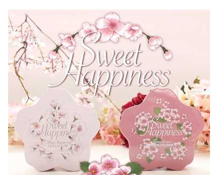 10*3.8cm Sakura candy boxes wedding Favor Holders European tin box fresh peach blossom Easter candy boxes valentine gift box(China (Mainland))
