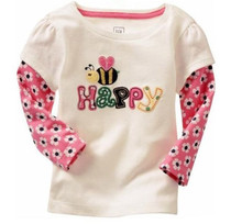1 PCS LOT New 100 Cotton Girls tees Tops Children T shirt Baby Girl Long sleeve
