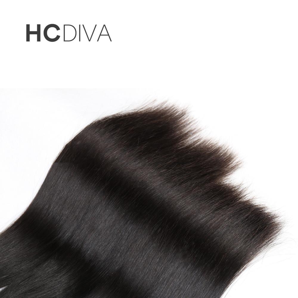 Brazilian Hair Weave Bundles Straight Human Hair Weaving Extensions [HCDIVA Hair ] 1 Pcs Natural Color Unprocessed Virgin Hair