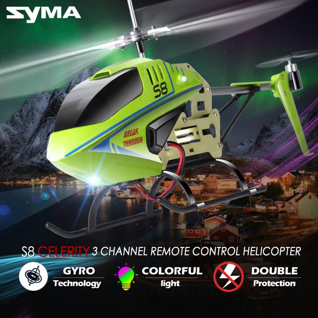 Новое поступление 2016 SYMA S8 3.5CH удаленного управления вертолетом электрический вертолетом Gryo поиск RTF конструкторы приколы 100% оригинал