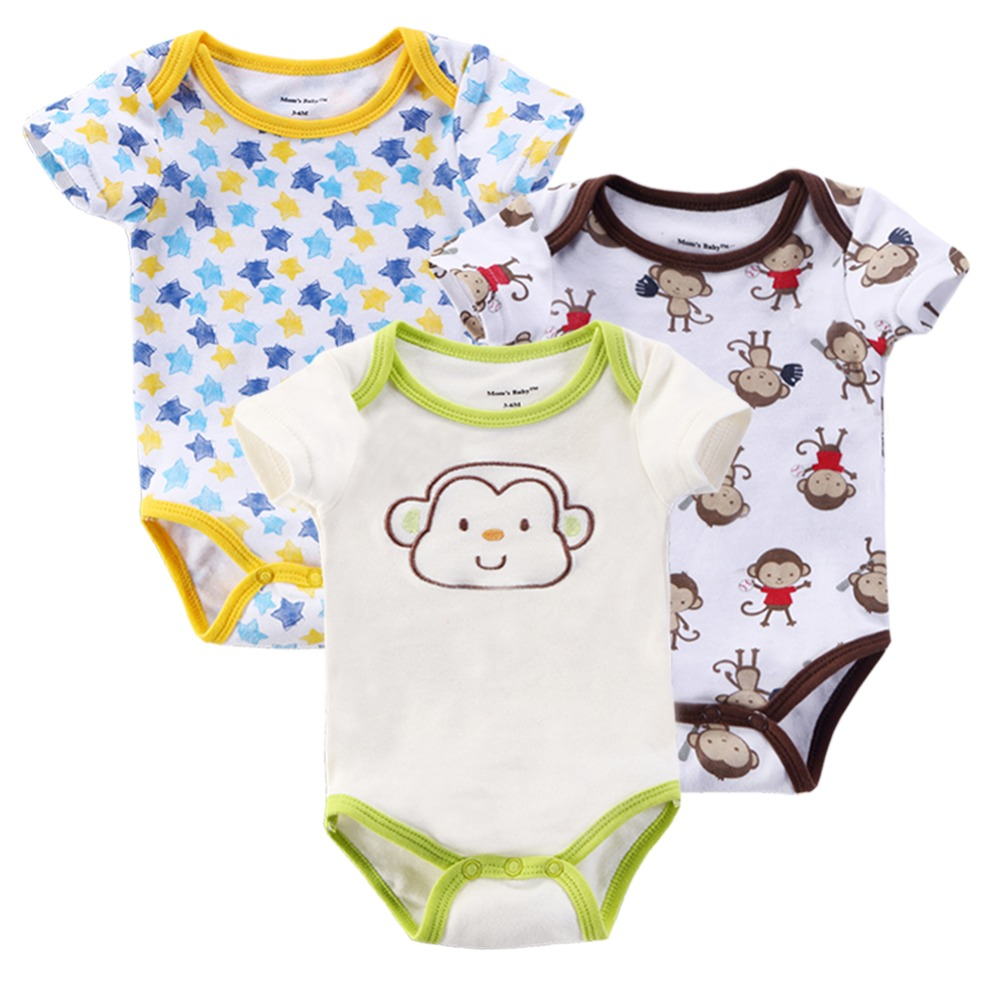 Baby Body 3Pieces/lot Newly 100%Cotton Baby Rompers Toddler Jumpsuit Cut Baby Girls Boys Newborn Bebe Overall Clothes Bebe(China (Mainland))