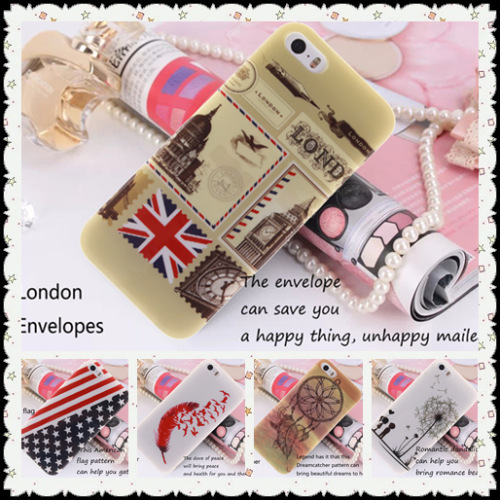 10 kinds Fine fashion soft case for iPhone 5 5s phone sleeve for Samsung Galaxy S3 i9300 London Stamps pattern TPU IMD design(China (Mainland))