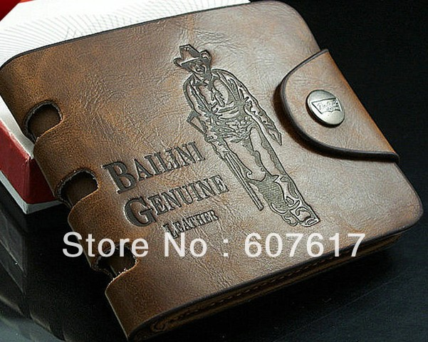 Genuine leather wallet card holder men's wholesael retail - Chinaboy store