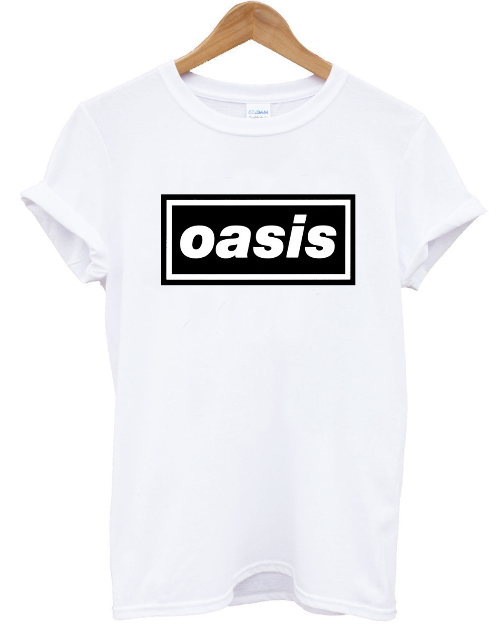 Fashion oasis print short sleeve t shirt unisex cotton for T shirt drop shipping companies