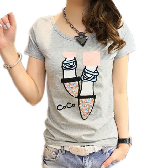 Футболка женщины футболка хлопок топ poleras де mujer короткие рукав футболки женщин 2016 kawaii повседневная футболка femme camiseta feminina