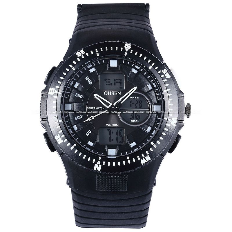 Casual Men Sport OHSEN LCD LED Day Alarm Men Men's Watches Dive Wristwatch Waterproof(China (Mainland))