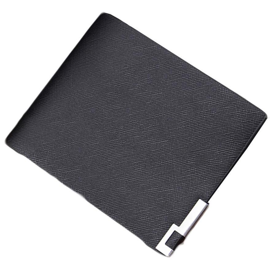 2015 Hot Sale Fashion Men Luxury Mini Neutral Magic Bifold Leather Wallet Card Holder Wallet Purse porte monnaie Free Shipping<br><br>Aliexpress