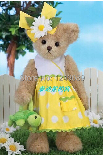 Free shipping lovely 14 inch Bearington teddy bear with green turtle soft plush doll for kids<br><br>Aliexpress