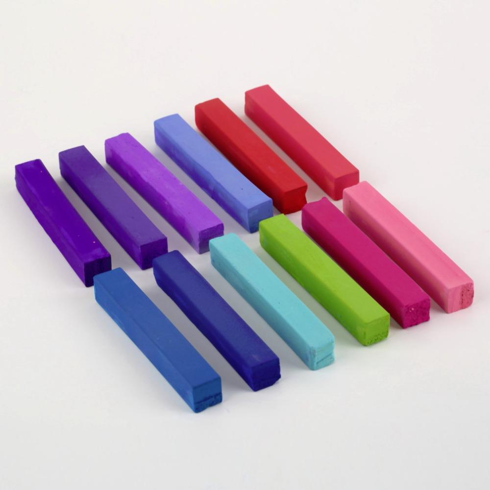 1 conjunto de 12 cores não tóxico temporária Pastel cabelo praça tintura de cabelo cor de giz cor de cabelo para cabelo giz Pastel atacado