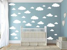 31pcs/set  DIY Big Clouds 4-10 inch Wall Sticker Removable Wall Decals Vinyl Kids Room Decor Art Home Decoration Mural KW-132(China (Mainland))