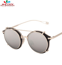 JinCool Top Quality Steampunk Glasses for Men 2016 Fashion Sunglasses Women Brand Designer Metal Sun Glasses UV400 Oculos de sol