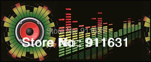 Car Styling 90 cm *25 cm 12V Car Sound Led Sticker EL Sheet Interior Lamp Music activated Equalizer Packing Lights